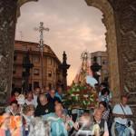 Llegada de la Virgen de Castrotierra a la entrada de la S.A.I. Catedral de Astorga.