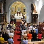 Aspecto de la iglesia parroquial de Villamontán durante la eucaristía celebrada con motivo de la inauguración de las obras.