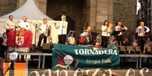 El concierto de Tornadera cerró la Alubiada.
