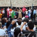 Un momento de la actuación de los alumnos del taller musical de verano.