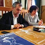 Palazuelo y González, en la presentación de la Semana de la Mujer.