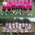 Los dos equipos que se enfrentarán a la final en el XXXIII Torneo de fútbol de Santibañez de la Isla.