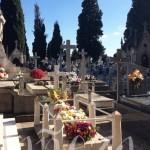 Una vista general del cementerio bañezano el Día de Todos los Santos.