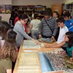 Los alumnos del colegio Teleno han sido los primeros en visitar el archivo. / Foto: Rubén
