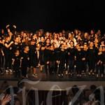 Ana Gema salió al escenario con sus chicos y chicas para agradecer al público la acogida de la gala.