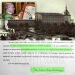 Imagen antigua del Seminario de La Bañeza. En detalle, el sacerdote ribereño y sobre estas líneas extracto de la carta del obispo. / Fotos: La Opinión de Zamora