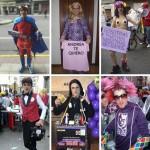 Una pequeña selección de los muchos personajes que Cristian ha protagonizado a lo largo de su trayectoria carnavalera.