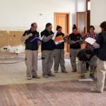 Las obras en el salón de plenos se prolongarán durante varias semanas. / Foto: Rubén