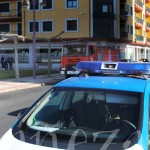 Bomberos, Policía Local y Guardia Civil en el lugar del incendio.