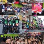 Algunos de los grupos y carnavaleros que participaron en el desfile del lunes.