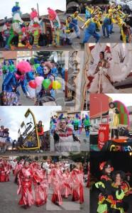 Algunos de los grupos, carnavaleros y disfraces del martes de Carnaval.