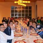 Una de las mesas de niños en la cena anual del club. / Foto: M.A.S.