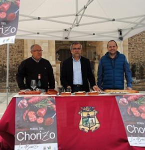 Gallego, Palazuelo y Martínez, durante la presentación de la Feria del Chorizo.