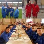 La plantilla fue recibida por el presidente de La Bañeza FC, Gonzalo Prieto, y almorzó en La Hacienda.