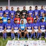 Plantilla, cuerpo técnico y directivos de La Bañeza FC para la temporada 2017-2018.
