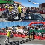 Tres instantáneas de la 58 Carrera de Motos de La Bañeza.