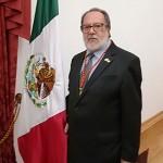 El Cronista Oficial de La Bañeza, José Dionisio Colinas, durante su estancia en México.