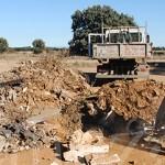 Parte de los materiales de escombro retirados por los voluntarios.