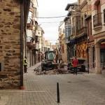 Obras en la calle Juan de Mansilla.