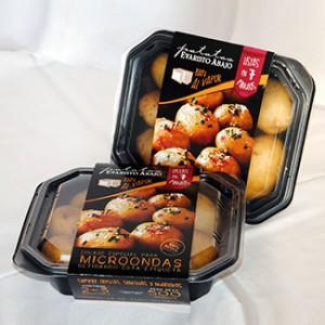Nuevas bandejas de Patatas Evaristo Abajo para microondas.