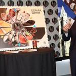 Silván en la presentación del sello dedicado a 'León, Capital Española de la Gastronomía'.