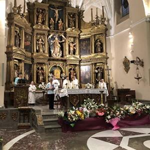 La ofrenda de la Encomienda tuvo lugar en el transcurso de la celebración religiosa.