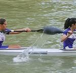 Samanta y Yaiza, del Club Bañezano de Piragüismo.