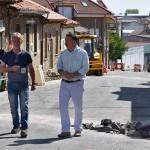 Palazuelo, Montiel y el responsable del área de Obras visitan los trabajos realizados en Santa Marina Alta.