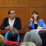 Mariano Hernández y Charo Martínez, presidenta de Adelba.
