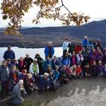 Fotografía de grupo delante del Lago de Sanabria.