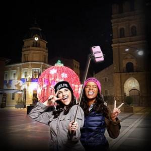 Una idea de 'selfie' navideño en la Plaza Mayor.