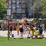 Los partidos se desarrollaron en la zona deportiva.
