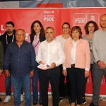 Palazuelo y varios integrantes de la candidatura socialista.