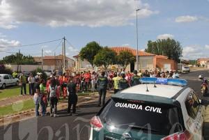 Desde Santa Colomba partió una batida coordinada por la Guardia Civil.
