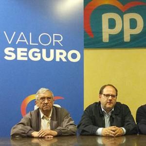 José Mateos y Javier Carrera durante la presentación del programa del Partido Popular para las pedanías en mayo de 2019.