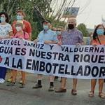 La pancarta abrió la manifestación.